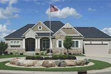 Architectural House Design - Craftsman Exterior - Front Elevation Plan #320-489
