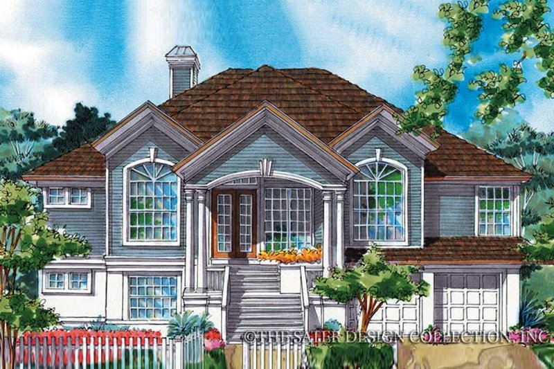 House Design - Country Exterior - Front Elevation Plan #930-74