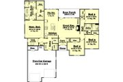 Traditional Style House Plan - 4 Beds 2.5 Baths 2175 Sq/Ft Plan #430-75 Floor Plan - Main Floor Plan