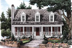 Country Exterior - Front Elevation Plan #927-36