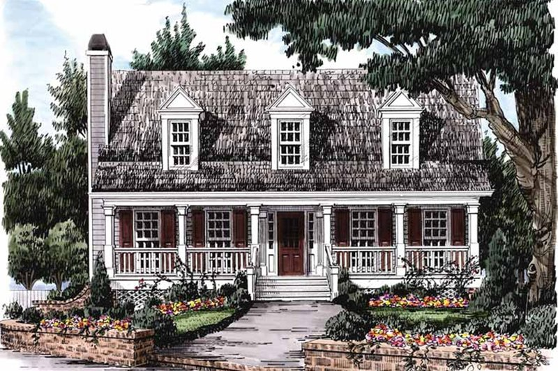 Country Style House Plan - 3 Beds 2.5 Baths 1491 Sq/Ft Plan #927-36 Exterior - Front Elevation