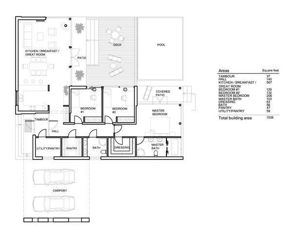 Modern Floor Plan - Main Floor Plan Plan #552-2
