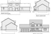 Country Style House Plan - 4 Beds 2.5 Baths 1727 Sq/Ft Plan #100-419 Exterior - Rear Elevation