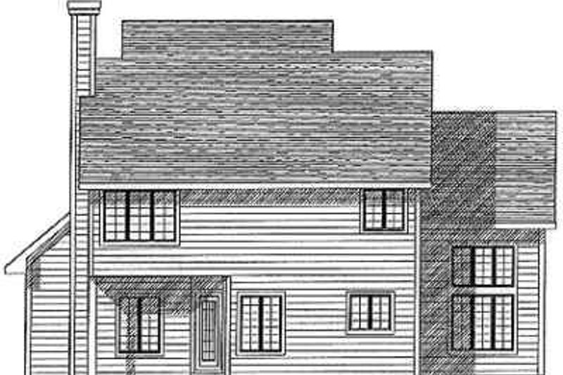 Traditional Exterior - Rear Elevation Plan #70-358 - Houseplans.com