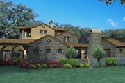 Mediterranean Style House Plan - 4 Beds 3.5 Baths 3691 Sq/Ft Plan #120-163 Photo