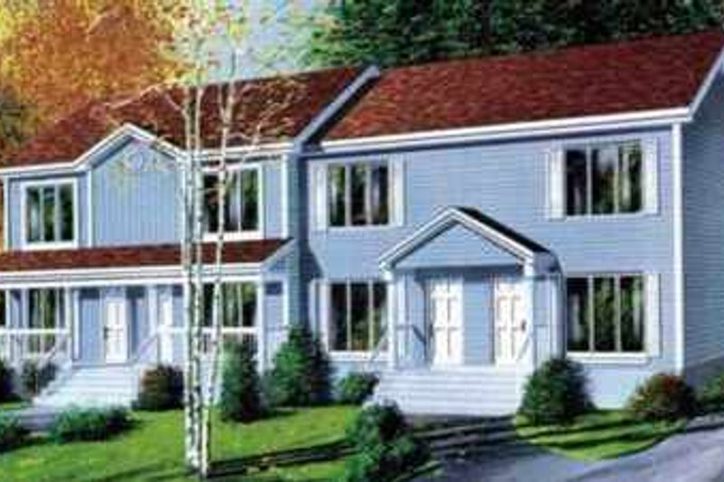 Traditional Style House Plan - 3 Beds 1.5 Baths 4096 Sq/Ft Plan #25-331 Exterior - Front Elevation