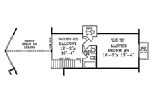 Cabin Floor Plan - Upper Floor Plan Plan #314-285