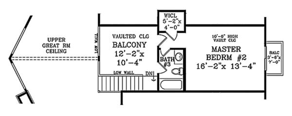 House Design - Cabin Floor Plan - Upper Floor Plan #314-285