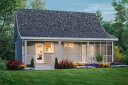 Cottage Style House Plan - 2 Beds 1 Baths 800 Sq/Ft Plan #21-213