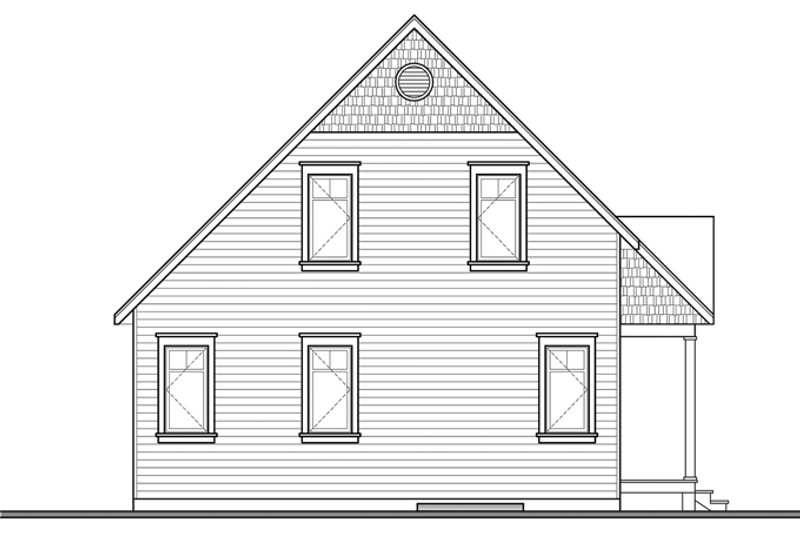 Country Exterior - Rear Elevation Plan #23-2581 - Houseplans.com