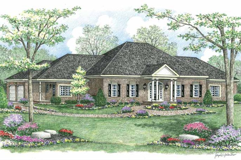 Ranch Exterior - Front Elevation Plan #1002-18 - Houseplans.com