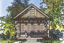 Country Exterior - Front Elevation Plan #1016-72