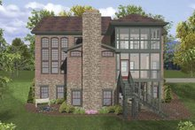 Home Plan - Traditional Exterior - Rear Elevation Plan #56-681