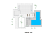 Contemporary Style House Plan - 2 Beds 2 Baths 1636 Sq/Ft Plan #542-2 Floor Plan - Other Floor Plan