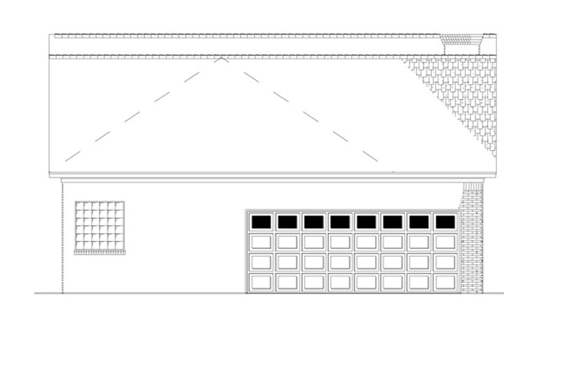 Country Exterior - Rear Elevation Plan #17-2903 - Houseplans.com