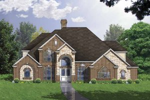 Country Exterior - Front Elevation Plan #40-492