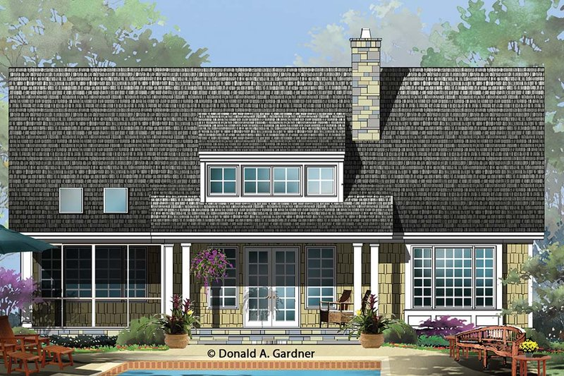 Cottage Exterior - Rear Elevation Plan #929-960 - Houseplans.com