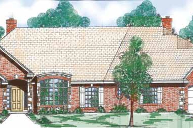 Traditional Exterior - Front Elevation Plan #52-266
