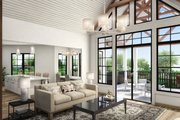 Farmhouse Style House Plan - 3 Beds 2 Baths 2510 Sq/Ft Plan #54-384 Interior - Family Room