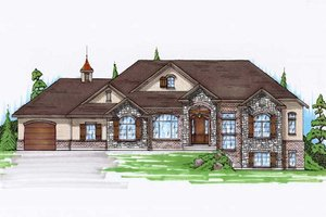 House Plan Design - European Exterior - Front Elevation Plan #5-248