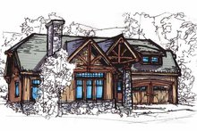 Architectural House Design - Craftsman Exterior - Front Elevation Plan #17-2815