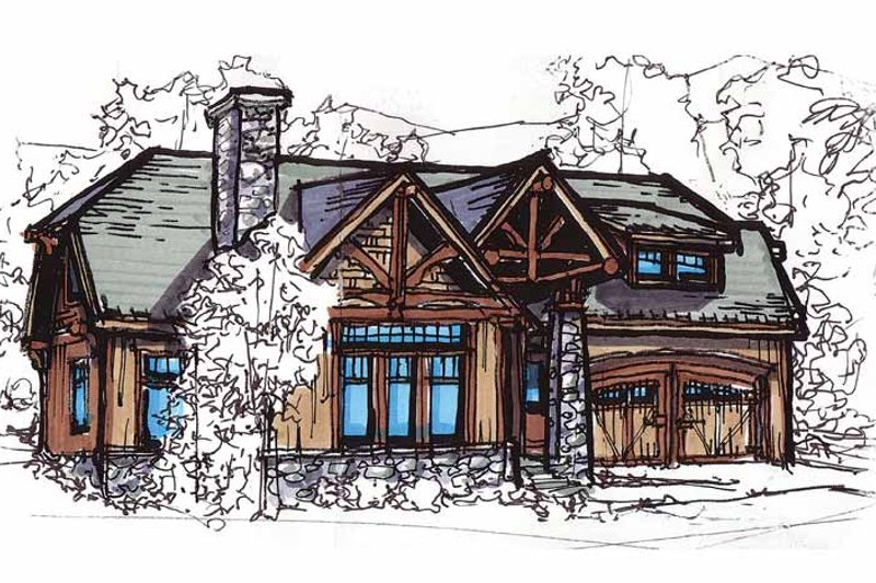 Craftsman Exterior - Front Elevation Plan #17-2815