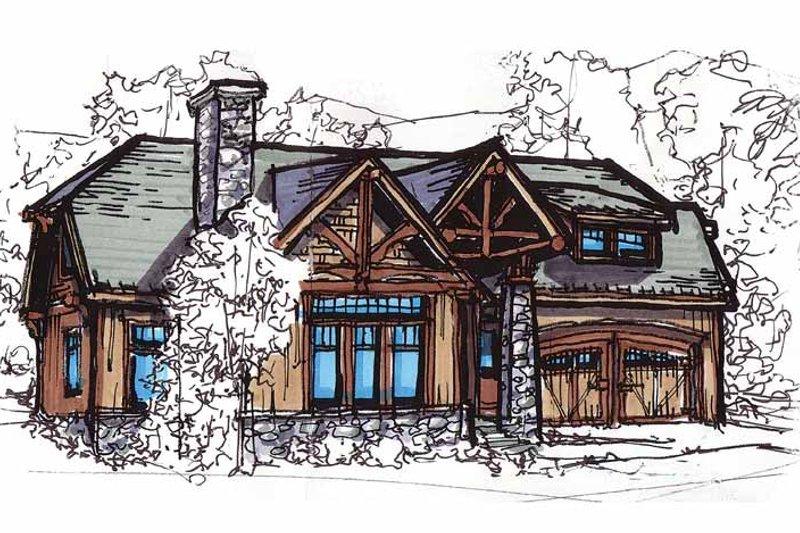 Dream House Plan - Craftsman Exterior - Front Elevation Plan #17-2815