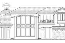 House Design - Mediterranean Exterior - Rear Elevation Plan #1017-171
