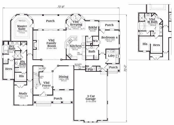 Craftsman Floor Plan - Main Floor Plan Plan #419-132