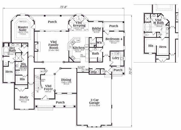 Craftsman Floor Plan - Main Floor Plan Plan #419-132