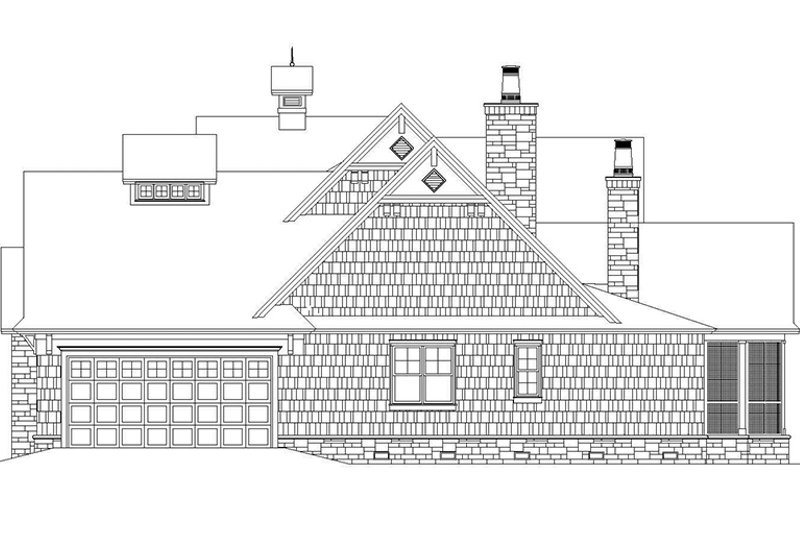 Craftsman Exterior - Other Elevation Plan #929-905 - Houseplans.com
