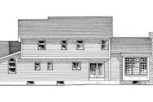 Country Exterior - Rear Elevation Plan #316-101