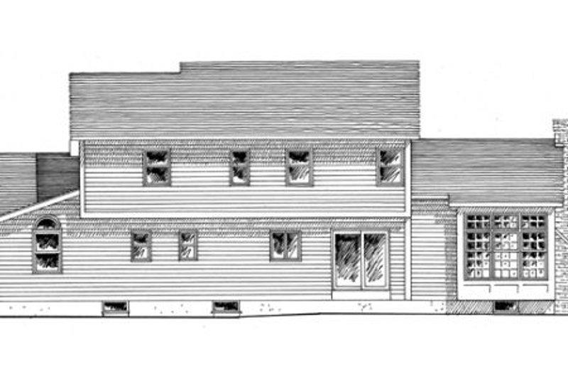 Country Exterior - Rear Elevation Plan #316-101 - Houseplans.com