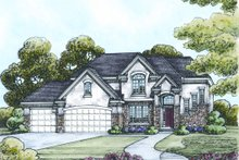 Home Plan - European Exterior - Other Elevation Plan #20-2124