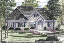 Ranch Exterior - Front Elevation Plan #316-269