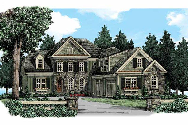House Plan Design - European Exterior - Front Elevation Plan #927-351