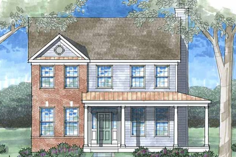 Country Exterior - Front Elevation Plan #1029-21 - Houseplans.com