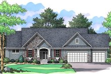 Traditional Exterior - Front Elevation Plan #51-348