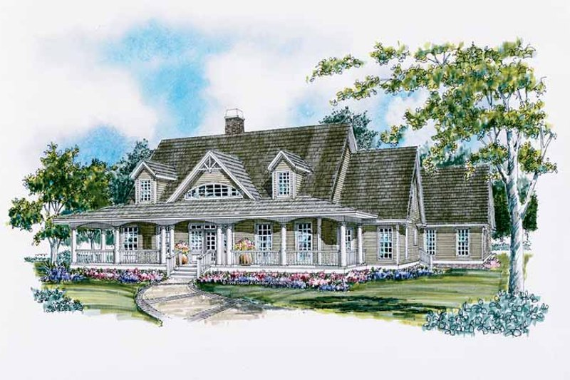 Craftsman Exterior - Front Elevation Plan #929-399
