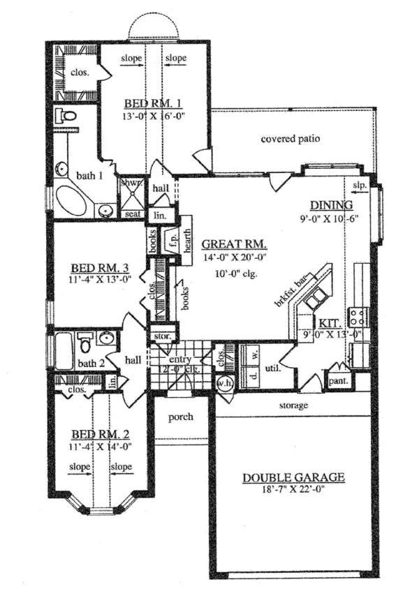 Home Plan - Traditional Floor Plan - Main Floor Plan #42-721