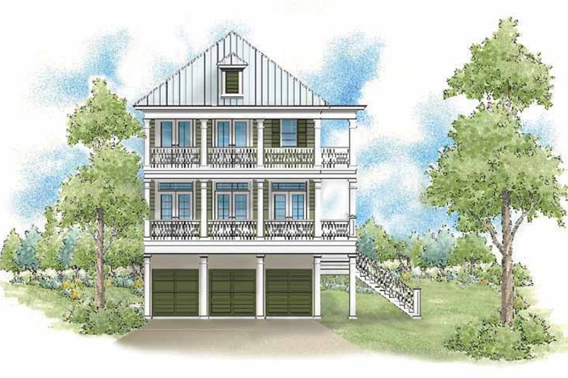 Traditional Exterior - Rear Elevation Plan #930-403 - Houseplans.com