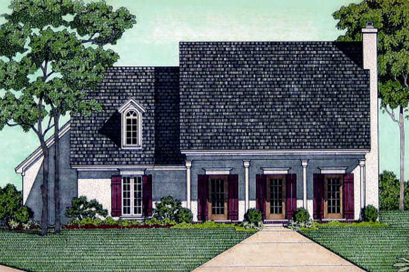 Southern Style House Plan - 2 Beds 2 Baths 1683 Sq/Ft Plan #45-321 Exterior - Front Elevation