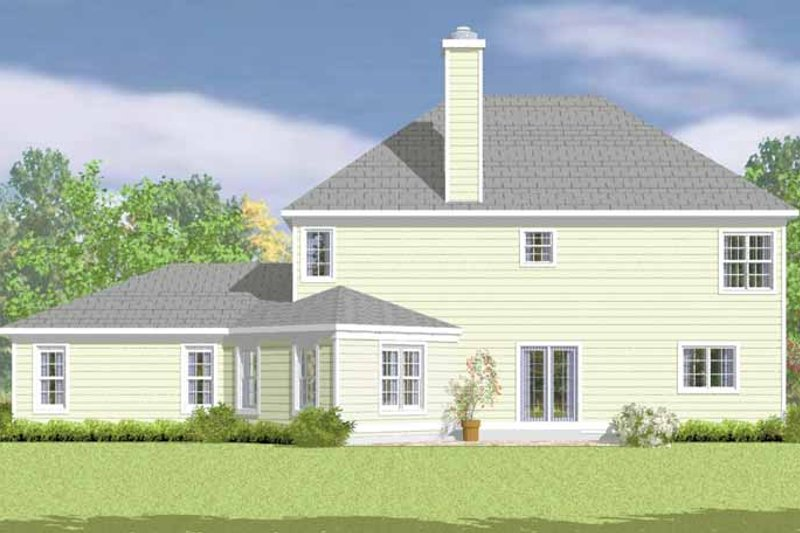 Country Exterior - Rear Elevation Plan #72-1100 - Houseplans.com