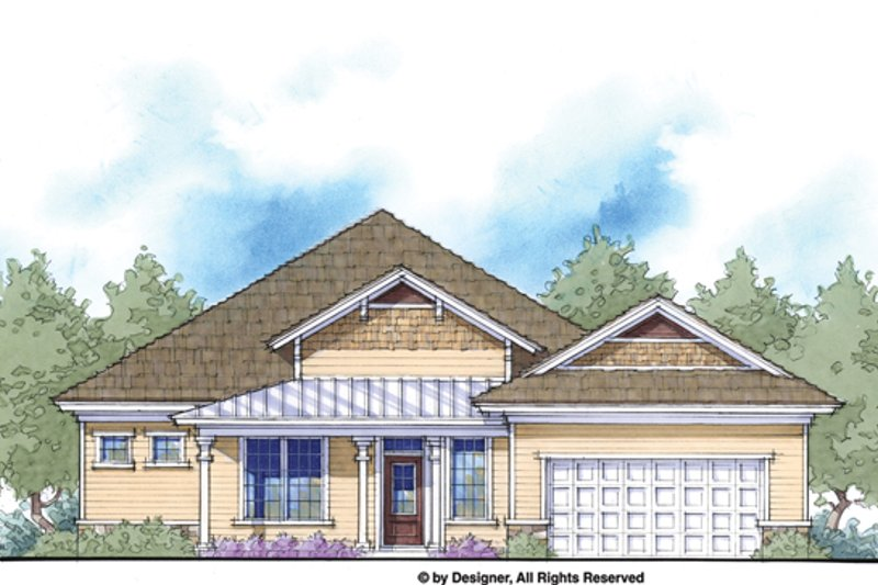 Country Style House Plan - 4 Beds 3 Baths 2150 Sq/Ft Plan #938-79 Exterior - Front Elevation