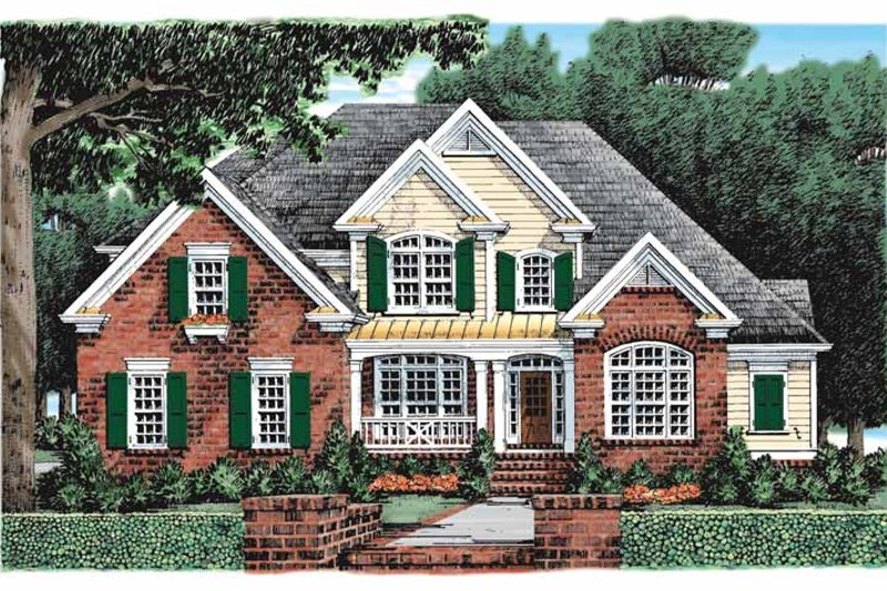 Traditional Exterior - Front Elevation Plan #927-907 - Houseplans.com