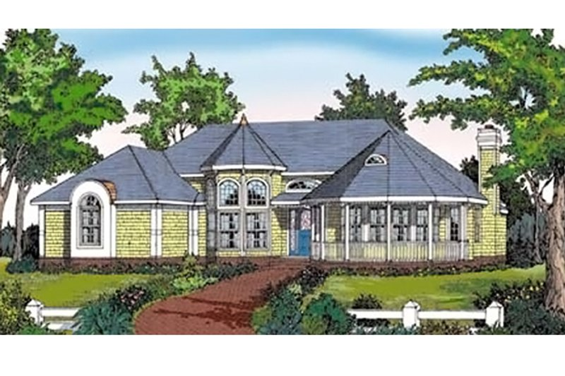 Country Exterior - Front Elevation Plan #314-272