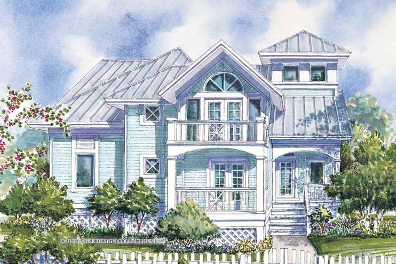 Country Exterior - Front Elevation Plan #930-62