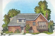 House Plan Design - Contemporary Exterior - Rear Elevation Plan #1016-99