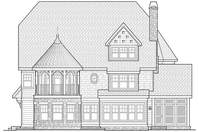 Craftsman Exterior - Rear Elevation Plan #928-34 - Houseplans.com