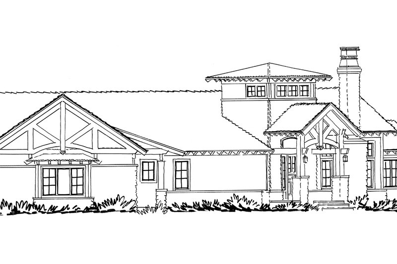 Ranch Exterior - Front Elevation Plan #942-31 - Houseplans.com